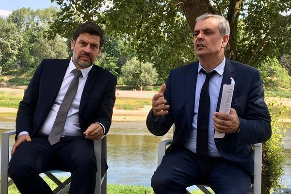 Benoist Pierre et Christophe Bouchet ont officialisé leur alliance lors d'une conférence de presse en bord de Loire.