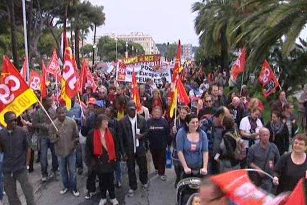Manifestation à Nice le 1er mai 2012