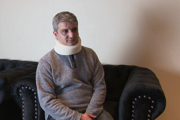 Khaled Cid après son agression, le 2 février 2020.