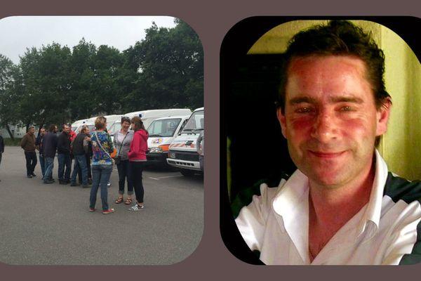 Les amis et les services de la protection civile à la recherche du disparu ce matin à Châteaubriant