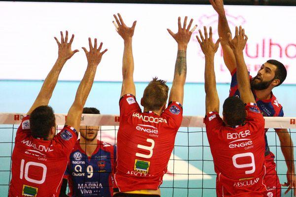 Finale de la Super Coupe de Volley-Ball pro a Mulhouse, le 7 octobre 2017.