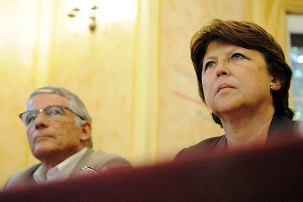 Pierre Cohen et Martine Aubry en 2011