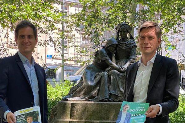 """Pour Xavier Bouvet et Mathieu Klein, candidats à Metz et à Nancy, """"il faut sortir de décennies très conflictuelles entre les deux métropoles qui se sont révélées stériles pour les deux territoires"""""""