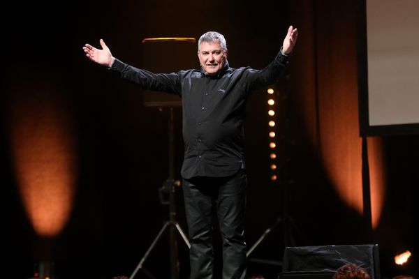 Jean-Marie Bigard lors de l'un de ses spectacles à Marseille le 28 mai 2019.