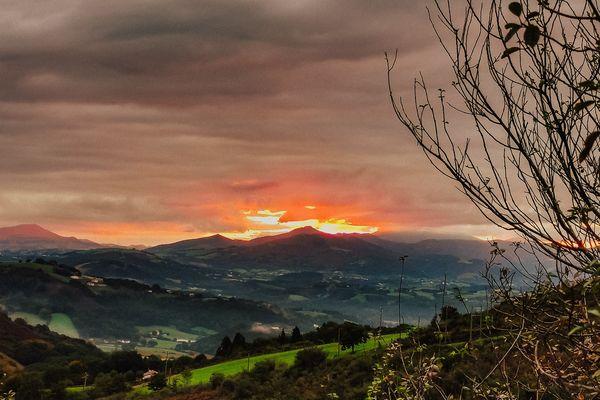 """""""Le sentier de la Rhune en passant par Sare"""" by Audrey Rey  / Pyrénées-Atlantiques - Pays Basque - octobre 2021"""