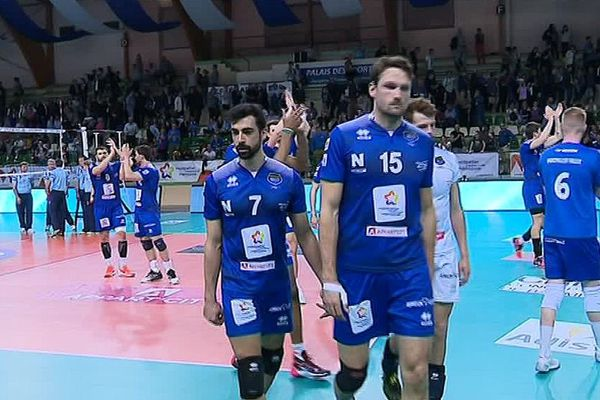 Montpellier a perdu 3-0 face à Nice en quarts de finale aller du Championnat de France messieurs de volley-ball - 7 avril 2017