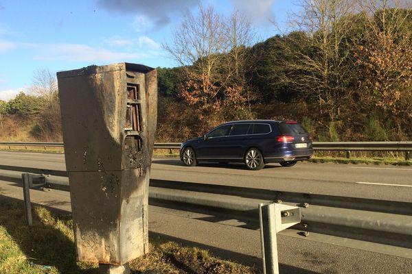 13 radars ont été incendiés en Vendée la nuit du 16 au 17 janvier 2019