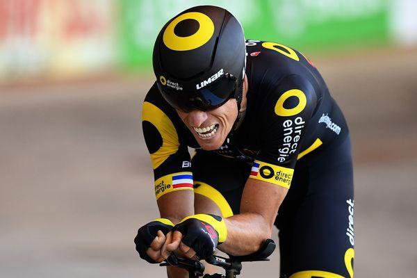 Sylvain Chavanel au Championnats de France de cyclisme sur piste à Hyères dans le Var.