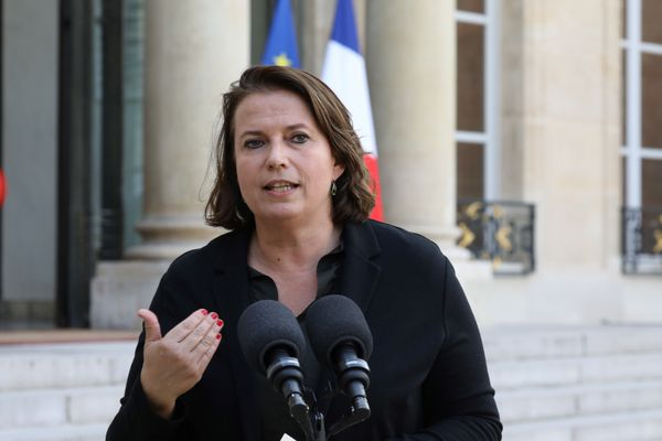 Claire Hédon, la défenseure des Droits, à l'Elysée quand elle était présidente d'ATD Quart Monde, en octobre 2017.