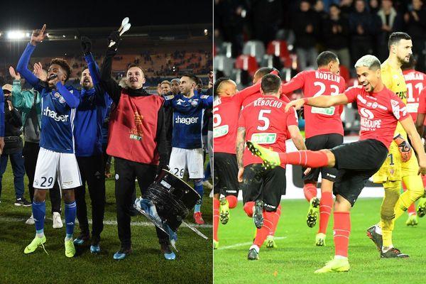 Strasbourgeois et Guingampais, invités surprises de cette finale de la Coupe de la Ligue.