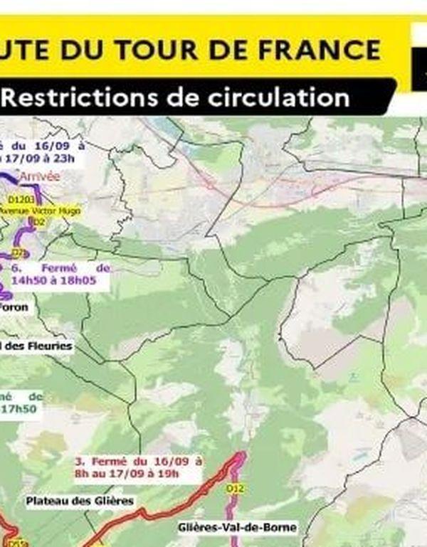 Les restrictions de circulation en Haute-Savoie.