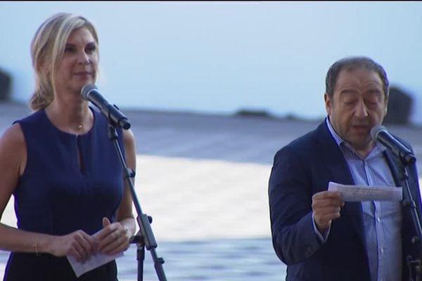 Michèle Laroque et Michel Boujenah ont lu un texte écrit par le prix Nobel niçois Jean-Marie Gustave Le Clézio.