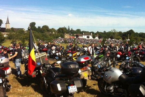 20 000 motards rassemblés à Porcaro dans le Morbihan