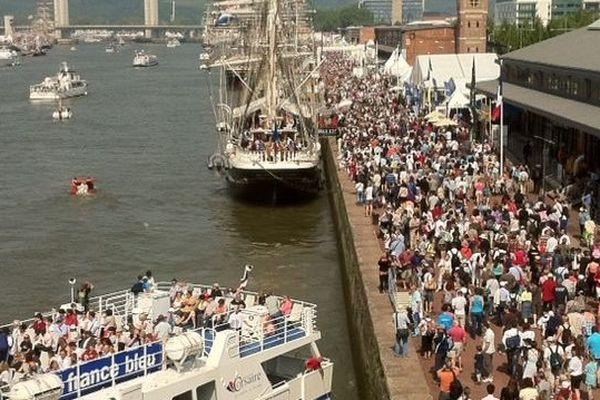 La foule sur les quais !