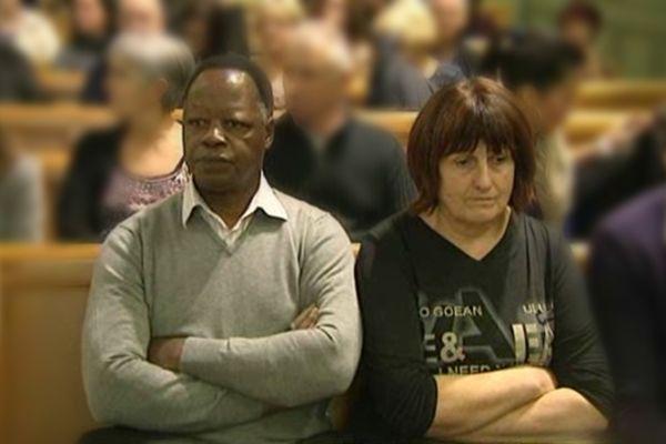 Les parents de Dorian Bambara sur le banc des parties civiles de la cour d'Assises de la Gironde le lundi 26 novembre 2012.