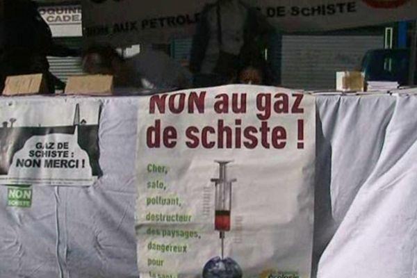 Une manifestation dans l'Aisne des opposants au gaz de schiste