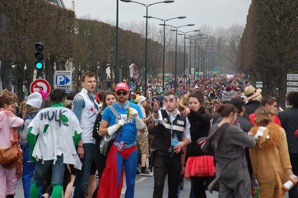 Le carnaval étudiant de Caen en 2015