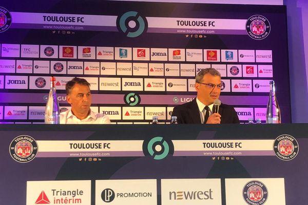 TFC : conférence de presse de Damien Comolli du TFC et Olivier Sadran