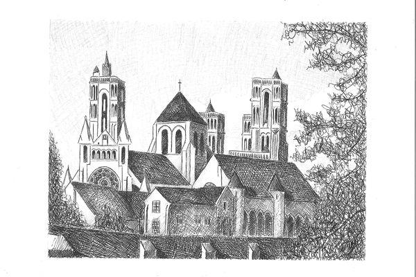 La cathédrale de Laon est la préférée de l'artiste-peintre.