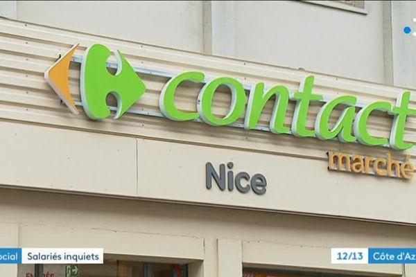 Le Carrefour Contact Marché de Nice Gassin est menacé de fermeture.