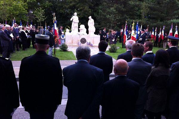 L'inauguration du monument.