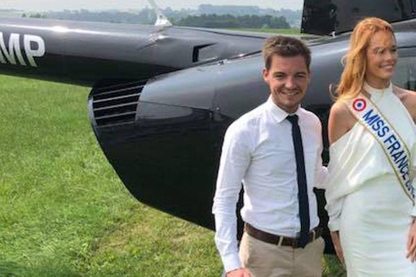 La maire d'Hesdin, Stéphane Sieczkowski-Samier, avait accueilli Maëva Coucke à la sortie de son hélicoptère, le 10 juin dernier