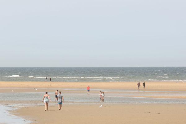 29° dans l'air et 20° dans l'eau sont prévus pour la plage d'Houlgate, ce samedi.
