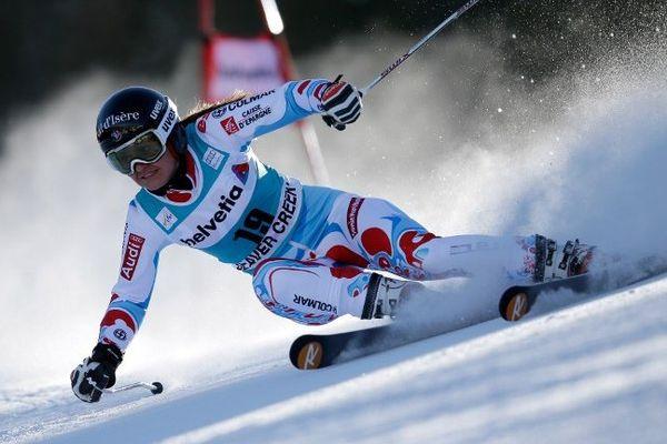 Meilleure tricolore, la skieuse de Val d'Isère Anémone Marmottan termine 6ème du Géant de Beaver Creek.