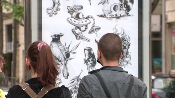 Señor Octopus et ses dessins tatouages. Montpellier