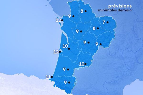 12°à La Rochelle et Arcachon