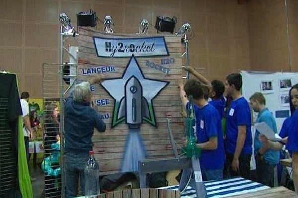 L'une des inventions des entrepreneurs en herbe : le lanceur de fusée à eau