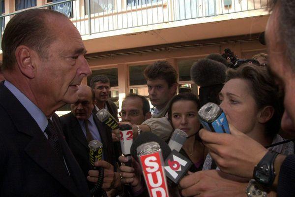 Jacques Chirac à Toulouse le jour de l'explosion d'AZF