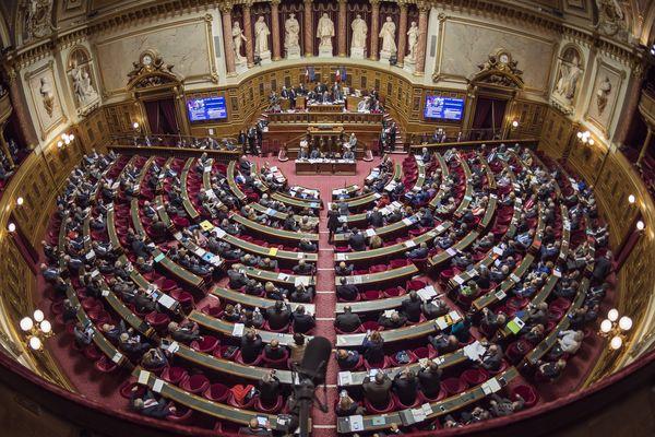 L'hémicycle du Sénat en 2016.