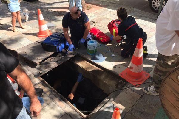 21/09/2020. Bastia : un homme tombe dans une bouche de canalisation