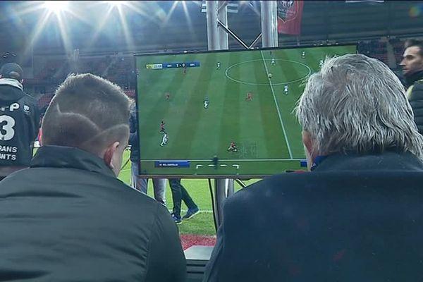 Le match de foot sur FIFA 19 a été retransmis sur écrans géants dans le Roazhon Park.