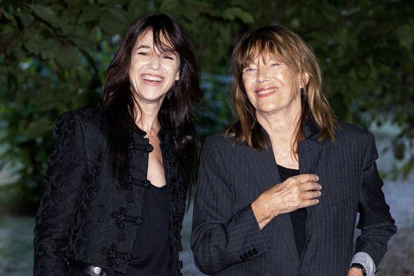Charlotte Gainsbourg et Jane Birkin, le 27 août 2021 à Angoulême