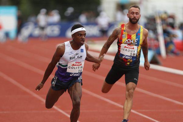 Amaury Golitin a conquis son premier de titre de champion de France, sur 100 m.