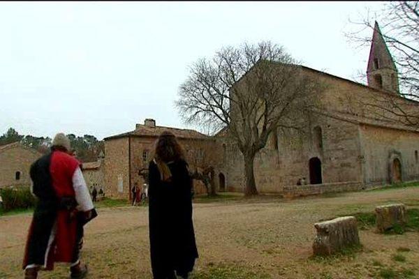 Ambiance moyenâgeuse à l'occasion de Noël à l'abbaye du Thoronet (Var)