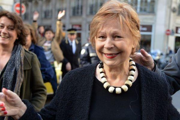 Lydie Salvayre après la proclamation du Goncourt en novembre 2014 - archives.