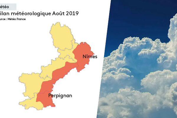 Carte pluviométrique août 2019.