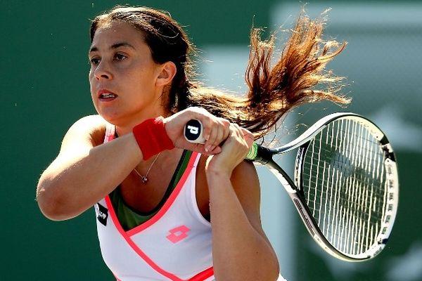 Marion Bartoli a été éliminée en 1/8ème de finale par l'Italienne Errani, 6/3 6/2, du tournoi d'Indian Wells aux Etats-Unis (12/03/2013).