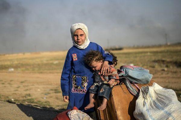 Des enfants syriens arrivés en Turquie - 7 septembre 2015