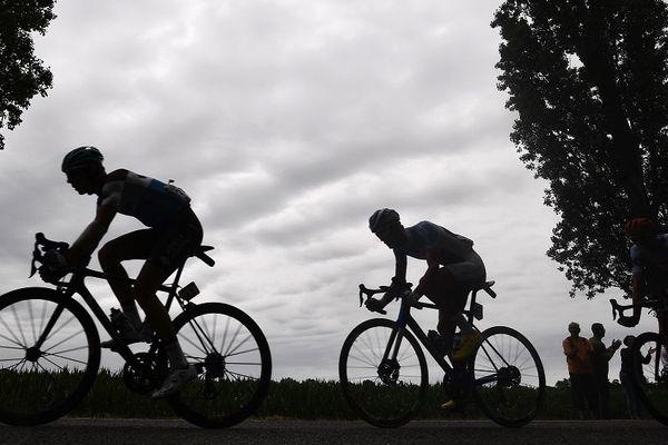 la 9e étape du Tour de France, longue de 170,5 km ira de Saint-Etienne à Brioude, le 14 juillet 2019. Image d'illustration