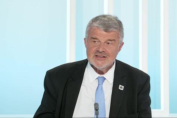 Jean-François Fountaine pendant la campagne électorale des municipales 2020