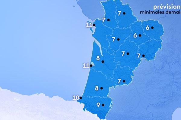 Météo France annonce de 6 à 11° au lever du jour.
