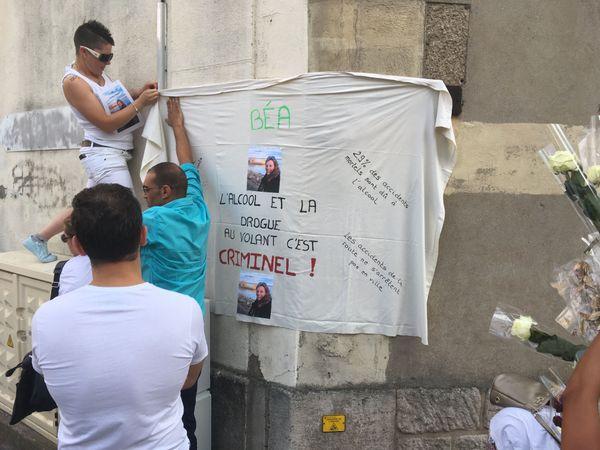 Une action symbolique en mémoire de Béatrice