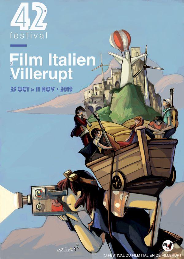 L'affiche du 42e festival du film italien de Villerupt (Meurthe-et-Moselle) est signée Alessandra Carloni.