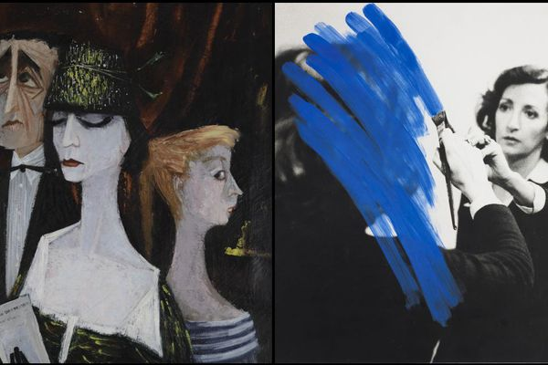 Marie-Thérèse Auffray, À la galerie Charpentier (1956) - Helena Almeida, Pintura habitada (1975)