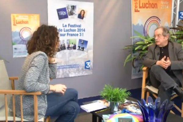 Serge Regourd sur le plateau de France 3 au festival de Luchon