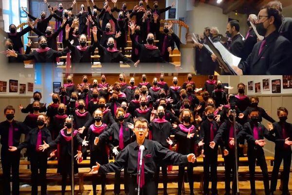 Le medley de Noël a nécessité la participation de 110 choristes.